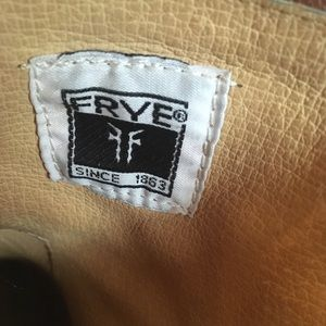 Frye Shoes - Frye Brown Leather Harness Boots w/ Zipper-backs